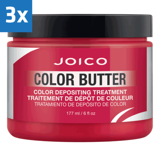 3x Joico Color Butter 177ml Red